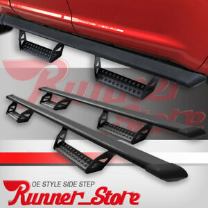For 2019 2020 Dodge Ram 1500 Quad Cab 3 Running Board Nerf Bar Side Step Blk Bt