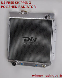 3 Row Aluminum Radiator For Ford Falcon Mercury Comet 60 65 Mustang 65 66 L6 V8