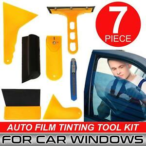 Professional Car Tint Window Film 7 Tools Squeegee Scraper Set Kit Application