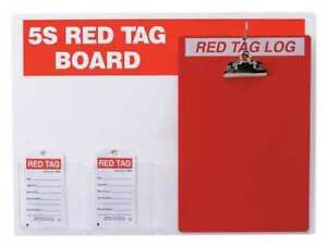 Brady 122056 Red Tag Station W clipboard Small Tags