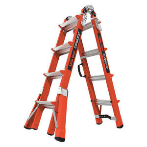 Little Giant 15144 186 Multipurpose Ladder 17 Ft fiberglass