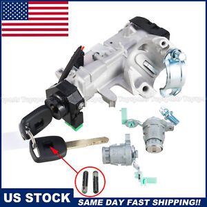 Door Lock Cylinders W Ignition Switch Assembly For Honda Civic Crv Accord 2keys