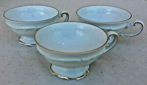 Vintage Hertel Jacob Bavaria Set Of 3 Contemporary Replacement China Tea Cups