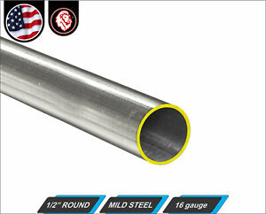 1 2 Round Tube Cold Formed Mild Steel 16 Gauge Erw 12 Long