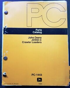 John Deere Jd450c Crawler Loaders Parts Catalog Manual Pc 1443