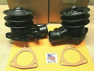 1935 1936 Ford Truck V 8 Water Pump Pair Rebuilt Double Groove Pulley 51 8509 D