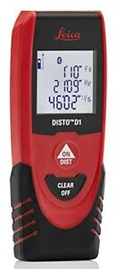 Leica Disto D1 130ft Laser Distance Measure With Bluetooth 4 0 Black red