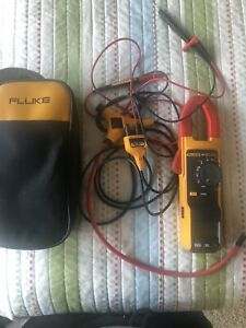 Used Fluke 381 F381 Remote Display True Rms Ac dc Clamp Meter Tester With Iflex