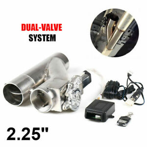 2 25 Inch 57mm Exhaust Control E cut Out Dual Valve Electric Y Pipe With Remote
