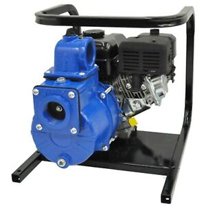 Portable Water Trash Pump 2 In And Out 1 2 Solids 182 Gpm 4 6 Hp Gas