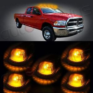 5 Roof Cab Marker Clearance Light Warm White 6 5730smd 194 168 Led Bulbs