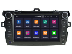 For Toyota Corolla 2006 2012 Android 9 0 Dvd Gps Navigation Wifi Radio Stereo