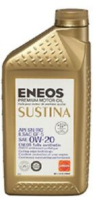 Eneos Sustina High Performance Fully Synthetic Motor Oil 0w 20 6 Quarts