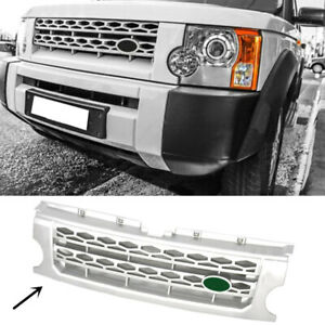 For Land Rover Discovery Lr3 2005 2009 Silver Front Grille Replace Trim Dx16