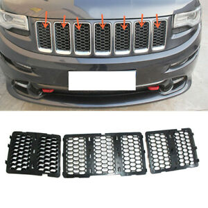 For Jeep Grand Cherokee Srt8 2014 16 Abs Front Grille Mesh Vent Hole Trims Dx43