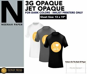 Iron On Heat Transfer Paper For Dark 3g Jet opaque 13 X 19 50 Sheet Pack