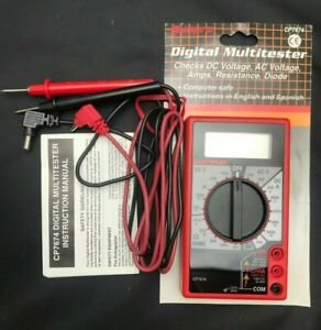Sunpro By Actron Cp7674 Multitester Digital Multimeter Test Leads Included