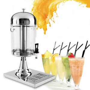 Cold And Hot Drink Machine Beverage Dispenser Stainless Ice Tube Over 2 Gallons