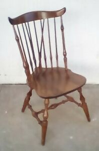 Authentic Nichols Stone Windsor Dining Chairs Set Of 6 Fan Back American Made