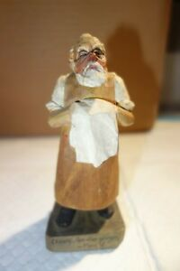Surgeon Wooden Carved Figurine Anri 5 Inch