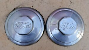 1934 1939 Ford Truck Front Hub Caps Original Pair 1 5 Ton