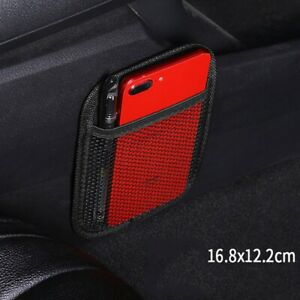 Car String Bag Vehicle Storage Mesh Phone Pocket Seat Side Storage Organizer 1pc