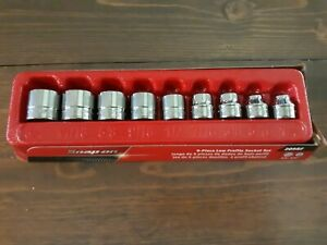 Snap on 9 Piece 3 8 Drive 12 Point Sae Flank Drive Low Profile Socket Set 209rf