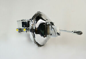 1964 1972 Sbc Chevy 11 Chrome Brake Booster Oval Top Master Cylinder
