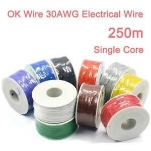 Ok Wire 30awg Electrical Wire Single Core Pcb Jumper Cable Wire 250m Copper Wire