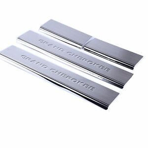 For 2011 2019 Jeep Grand Cherokee Stainless Steel Door Sill Scuff Plate 4pcs Set