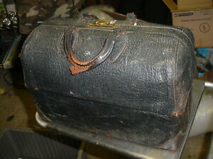 Vintage Emdee By Schell Large Leather Doctor S Bag