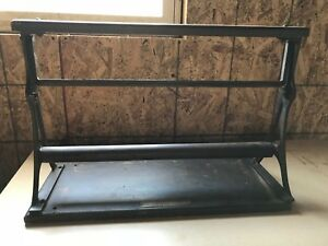 Vintage Cast Iron Paper Roll Cutter Country Store Butcher Counter Display Ad