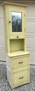 Vintage Antique Primitive Apothecary Medical Dental Cabinet Wood Furniture