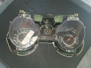 69 Chevelle Gauge Cluster With Clock And Floor Shift