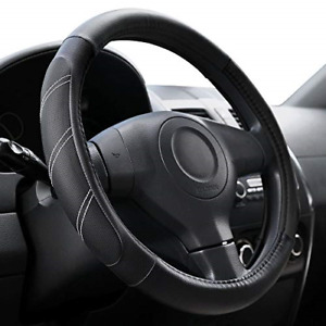 Elantrip Sport Leather Steering Wheel Cover 14 1 2 Inch To 15 Inch Universal