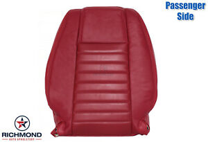 2005 2009 Ford Mustang V8 Gt Passenger Side Lean Back Leather Seat Cover Red