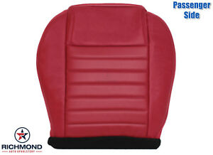 2005 2009 Ford Mustang Shelby Gt Cs6 Cs8 Passenger Bottom Leather Seat Cover Red