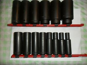 Wright Usa 1 2 Sae Dr Deep Impact Socket Set 14 Pc 6 Point 3 8 Thru 1 1 4 Bin Fs