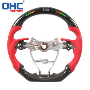 Real Carbon Fiber Led Steering Wheel For Toyota Camry Rav4 Corolla Ohc Motors