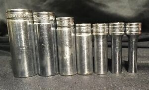 Snap On Tools 3 8 Drive Sae Deep Well Socket Lot Of 7