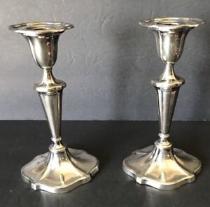 Silver Plated Candle Holders 7