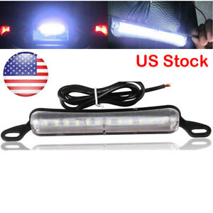 Xenon White 12 Smd Bolt On Led License Plate Light Lamp Car Universal Fit Us