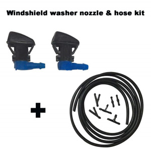 Zhparty Windshield Washer Wiper Nozzle Sprayer With Connector 7ft Long Fluid