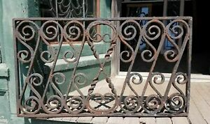 Antique Wrought Iron Window Grate Iron Fence 2