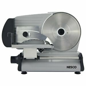 Nesco Electric Food Meat Cheese Slicer Cutter 8 7 Inch Blade Sliding Heavy Steel