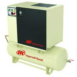 Ingersoll Rand Up6 15c 125 120 460 3 Rotary Screw Air Compressor 15 Hp 55 Cfm