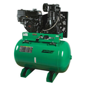 Speedaire 6ewk7 Stationary Air Compressor 13 Hp honda