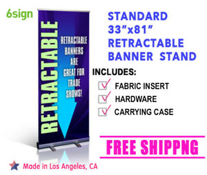 33 81 Retractable Roll Up Banner Stand Show Display