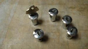 Oak A a Northwestern Gumball Vending Machine Locks Set Of 5 W 1 Key
