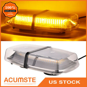 Us 72 Led Emergency Flash Warning Roof Top Strobe Light Amber Car Truck 5730 Smd